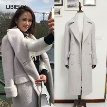 ca88a62a276 Fashion Fall Winter Women Off White Woolen Simple Classic Oversized Maxi  Long Coat Female Outerwear Manteau