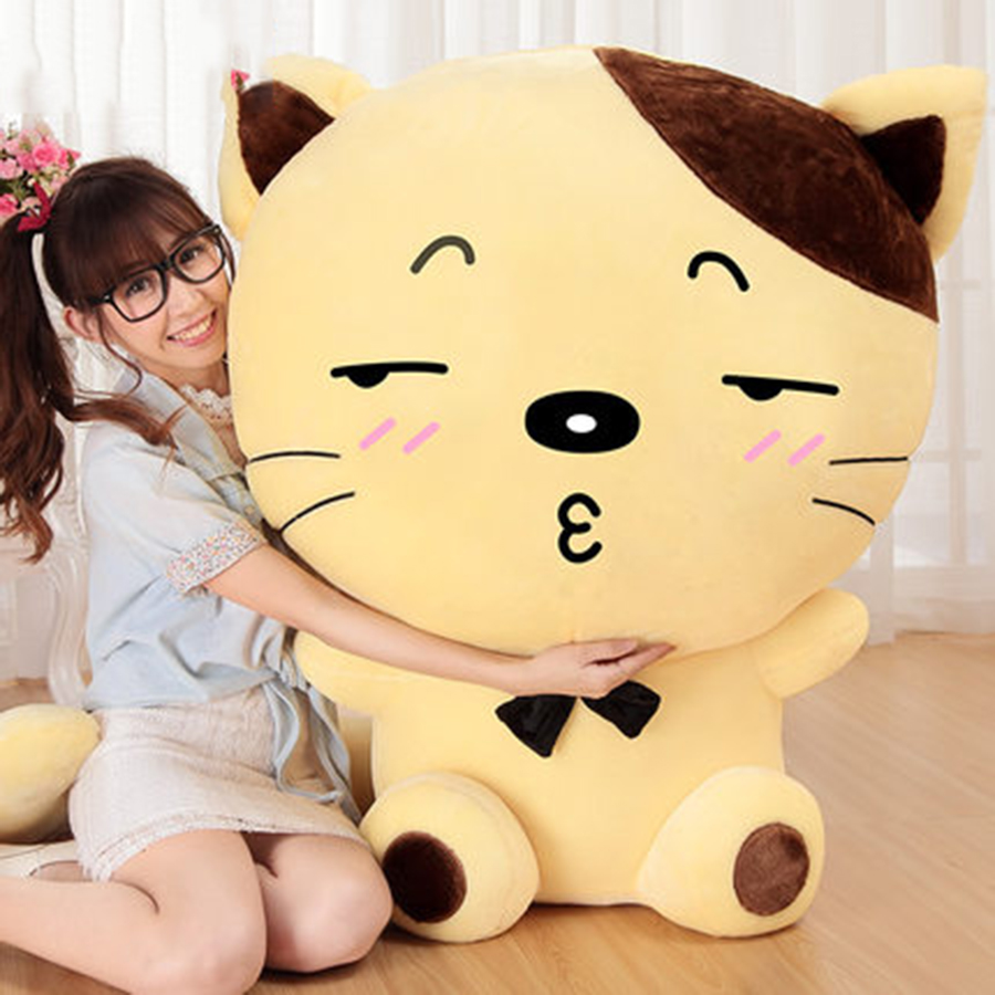 Large Cute Plush Cat Toy Pillow Christmas Baby Dolls For Girls Soft Kids Toys Doll Speelgoed Cloth Dolls 50T0002 lovely panda in pink dress big 90cm plush toy panda doll soft throw pillow proposal birthday gift x030