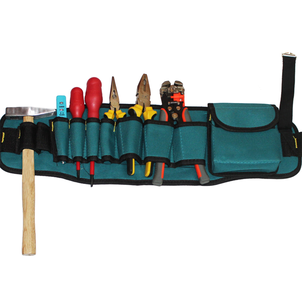 Multi-pockets Tool Bag Waist Pockets Electrician Tool Bag Oganizer Carrying Pouch Tools Bag Belt Waist Pocket Case