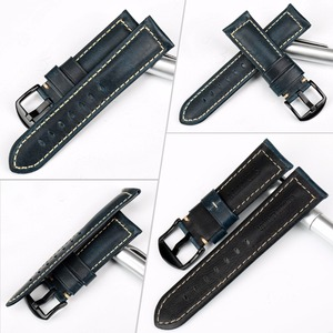 Image 2 - MAIKES Watch Accessories Watchband Retro Oil Wax leather Watch band 20mm 22mm 24mm 26mm Watch Strap Bracelet For Panerai MIDO