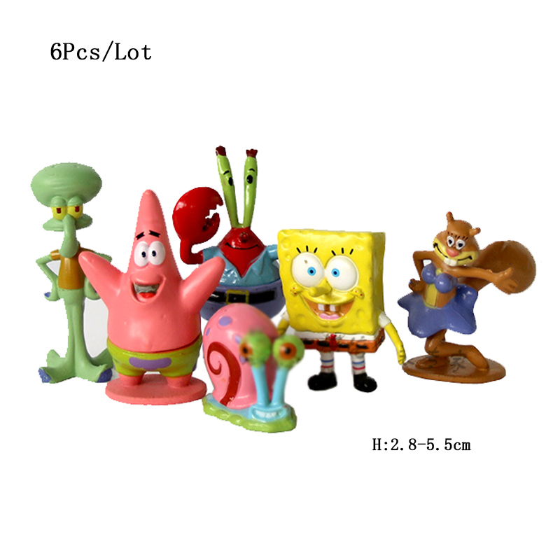 spongebob toys cupcake toppers baby kids children birthday party decoration supplies cupcake decorations sponge bob cake topper