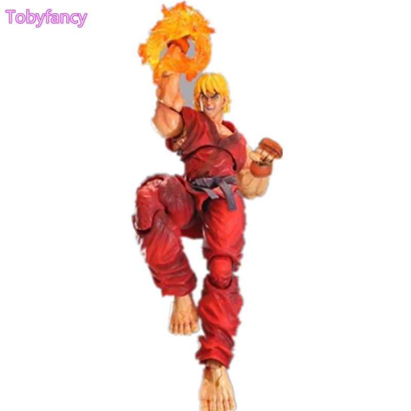 все цены на  Street Fighter Ken Play Arts Kai 230MM Action Figure Anime Game Toys Street Fighter Play Arts Kai Model Toy Figurine  онлайн