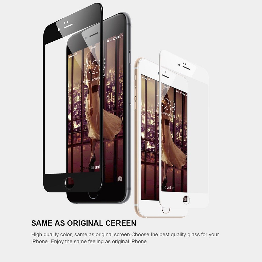 new product 8c009 69f97 US $2.92 25% OFF|Hot Sale full screen glass for Apple iPhone 6 6s 6/6s plus  7 7 plus coloris white/black toughened membrane Glass Protector film-in ...