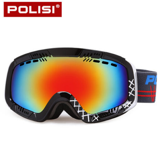 Prix pour POLISI Hommes Femmes Ski Ski Lunettes UV Protection Snowboard Lunettes Double Couche Anti-Brouillard En Plein Air Motoneige Lunettes