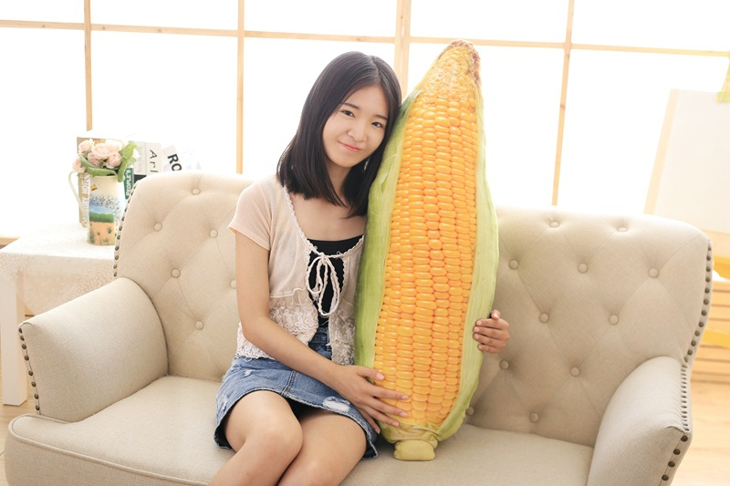 big creative plush corn toy simulation 3D corn pillow doll gift about 100cm big plush whale toy big head white foam dolphin doll pillow gift about 70cm