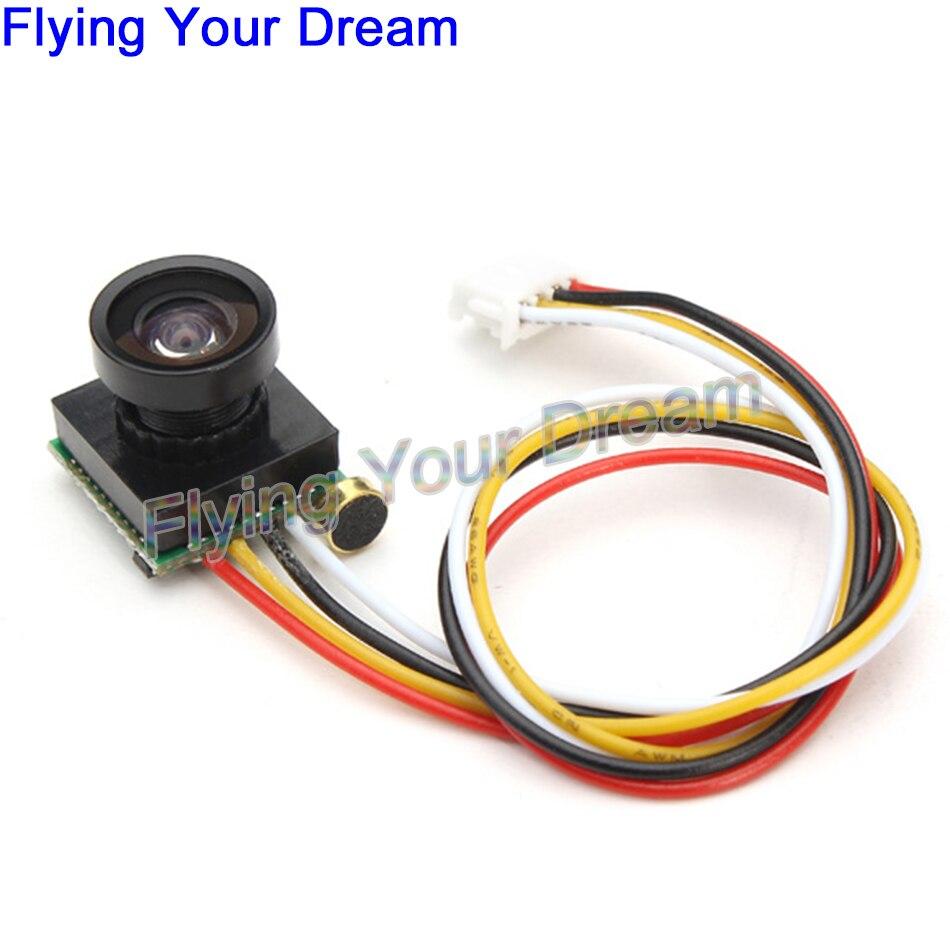 600TVL 120 Grad Super Kleine Farbe Video Mini FPV Kamera mit Audio für Mini 180 200 250 Quadcopter