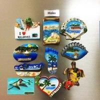 10pcs/set Maldives Island Landscape 3D Resin Fridge Magnets Tourist SouvenirsHome Decoration Refrigerator Magnetic Stickers