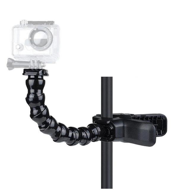 Jaws Flex Clamp Mount + 8 Joint Adjustable Goose Neck for Gopro Hero/7/6/5/4/3/2/1/SJ4000/SJ5000 action camera