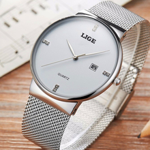 Luxury Brand Stainless Steel Gold LIGE9801