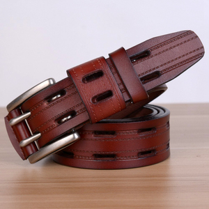 Image 3 - 100% High Quality Genuine Leather Belts for Men Brand Strap Male Pin Buckle Fancy Vintage Jeans Cowboy Cintos