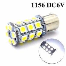 1 шт. DC6V 1156 BA15S P21W 5050 30smd Led R5W 3 Вт резервный тормоз поворотные огни DRL Автомобильные светодиодные лампы авто лампа 6000 К белый