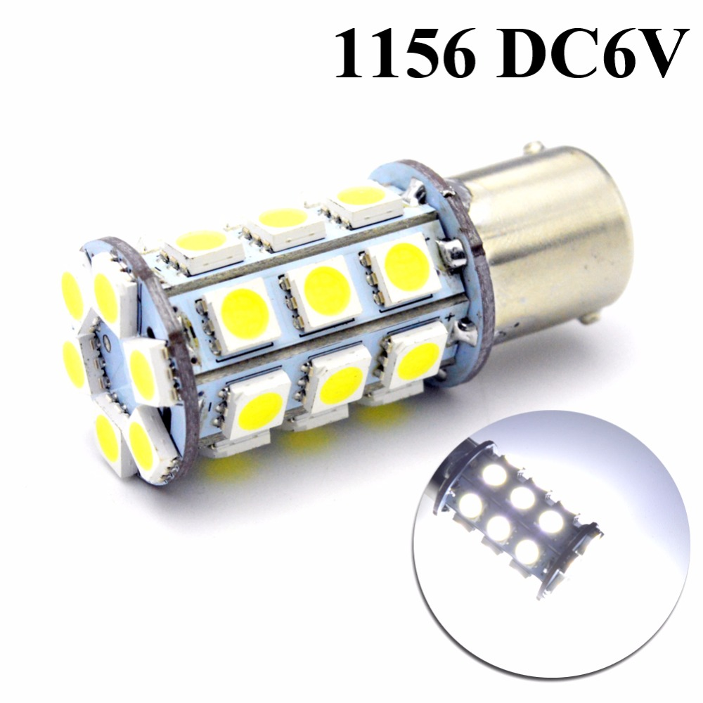 1pc DC6V 1156 BA15S P21W 5050 30smd Led R5W 3W Reserve Brake Turn Singal Lights DRL Car Leds Bulb Auto lamp 6000K White image