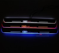 EOsuns Acrylic LED Moving Door Scuff Nerf Bars Running Boards Plate Door For Audi A4 B8
