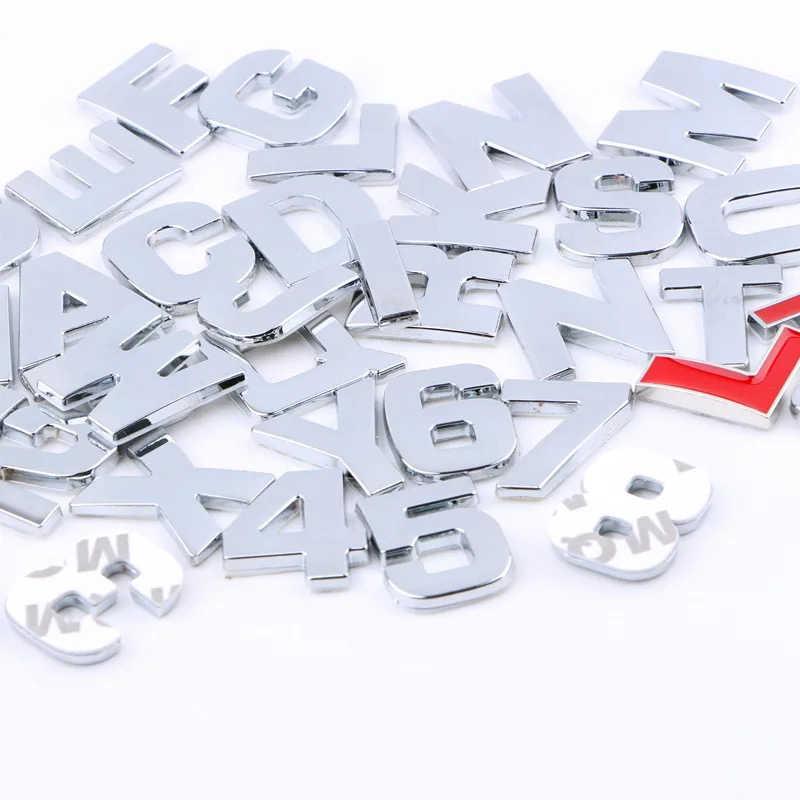 Katı saf metal araba deplasman standart 123456789.1.5T1.8T2.0LABCDEFGHIJKLMNOPQRSTUVWXYZ modifiye kuyruk araba logosu