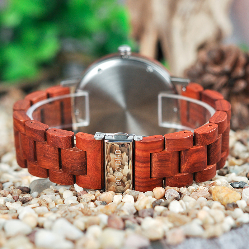 BOBO BIRD Timepieces Mænds Wooden Watches Fashion Wood Nyt Design - Mænds ure - Foto 4