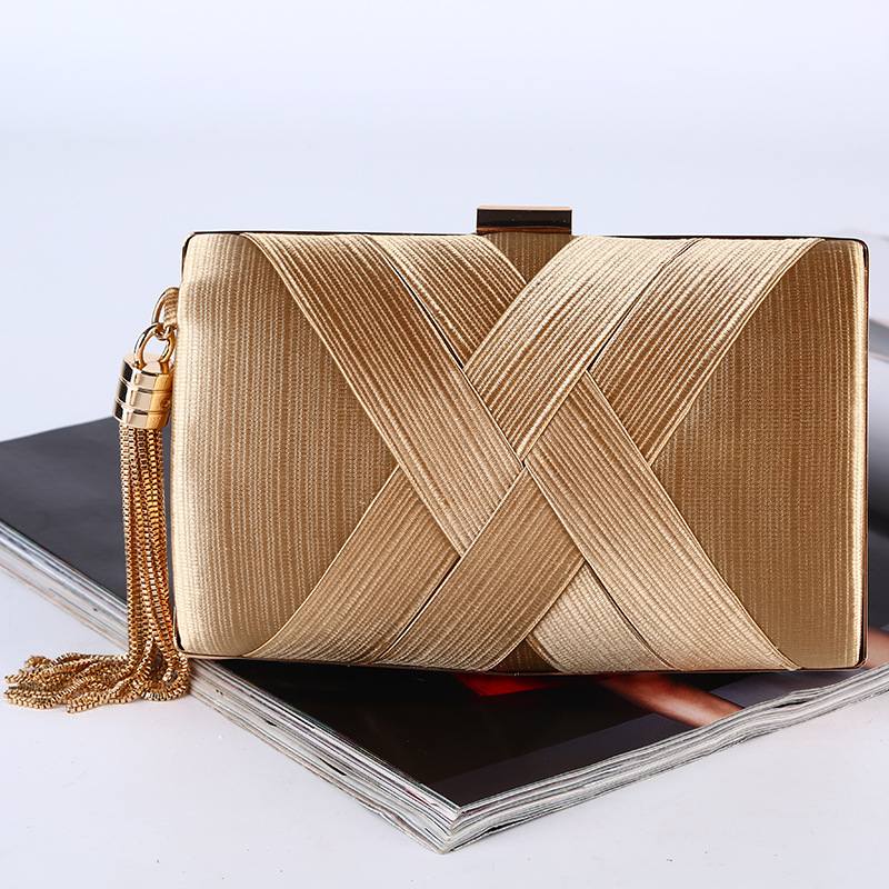 Evening Bag Women Knitting Organizer Wallet Handbag Criss-cross Hasp Clutch Wedding Party Purse Evening Bag Handbag LS8354 Кошелёк