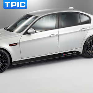 Image 3 - For BMW E90 E92 E93 F20 F21 F30 F31 F32 F33 F34 F15 F10 F01 F11 F02 G30 M Performance Side Skirt Sill Stripe Body Decals Sticker