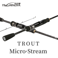 Tsurinoya MYSTERY 1.8m/1.98m MF Action Power Fishing Rods Spining Sea bass Rod Long Casting Trout Rod FUJI Guide Rings Cast Rod