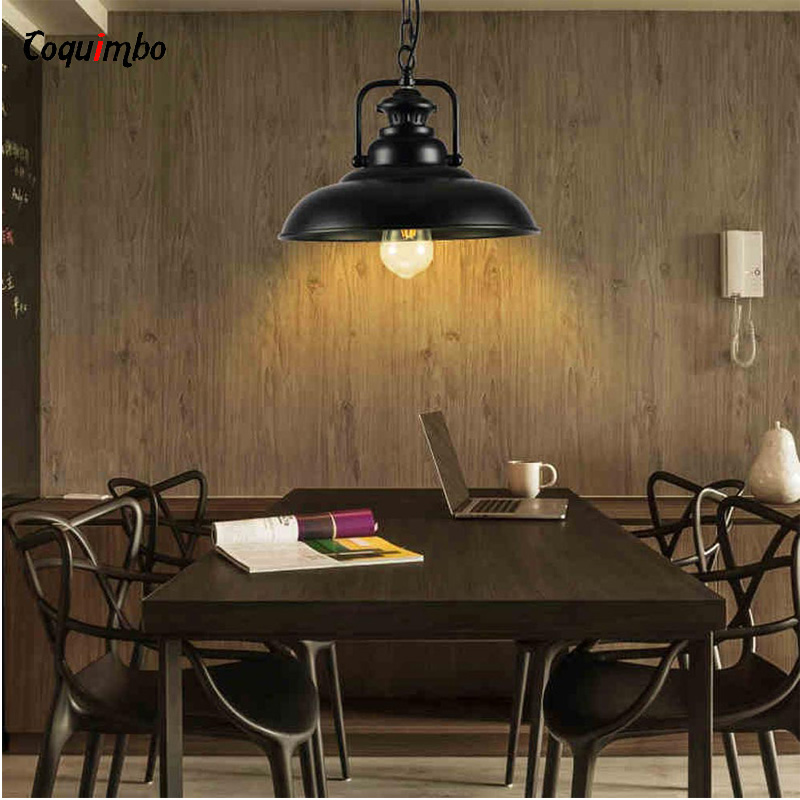 Edison Loft Style Metal Lid Droplight Industrial Vintage energy saving lamps Pendant Light Fixtures For Dining Room Hanging Lamp american edison loft style rope retro pendant light fixtures for dining room iron hanging lamp vintage industrial lighting