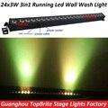 Led luz da arruela da parede 24x3 w rgb 3in1 led luzes de lavagem de parede execução Funtion Bar Dmx Para Dj Discoteca Festa Show de Efeito de Estágio projetor