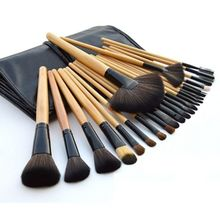 цены 24pcs Professional Makeup Brush Set With Cosmetic Make Up Bag Foundation Eye Lip Makeup Brushes Kit Beauty Cosmetic Tools