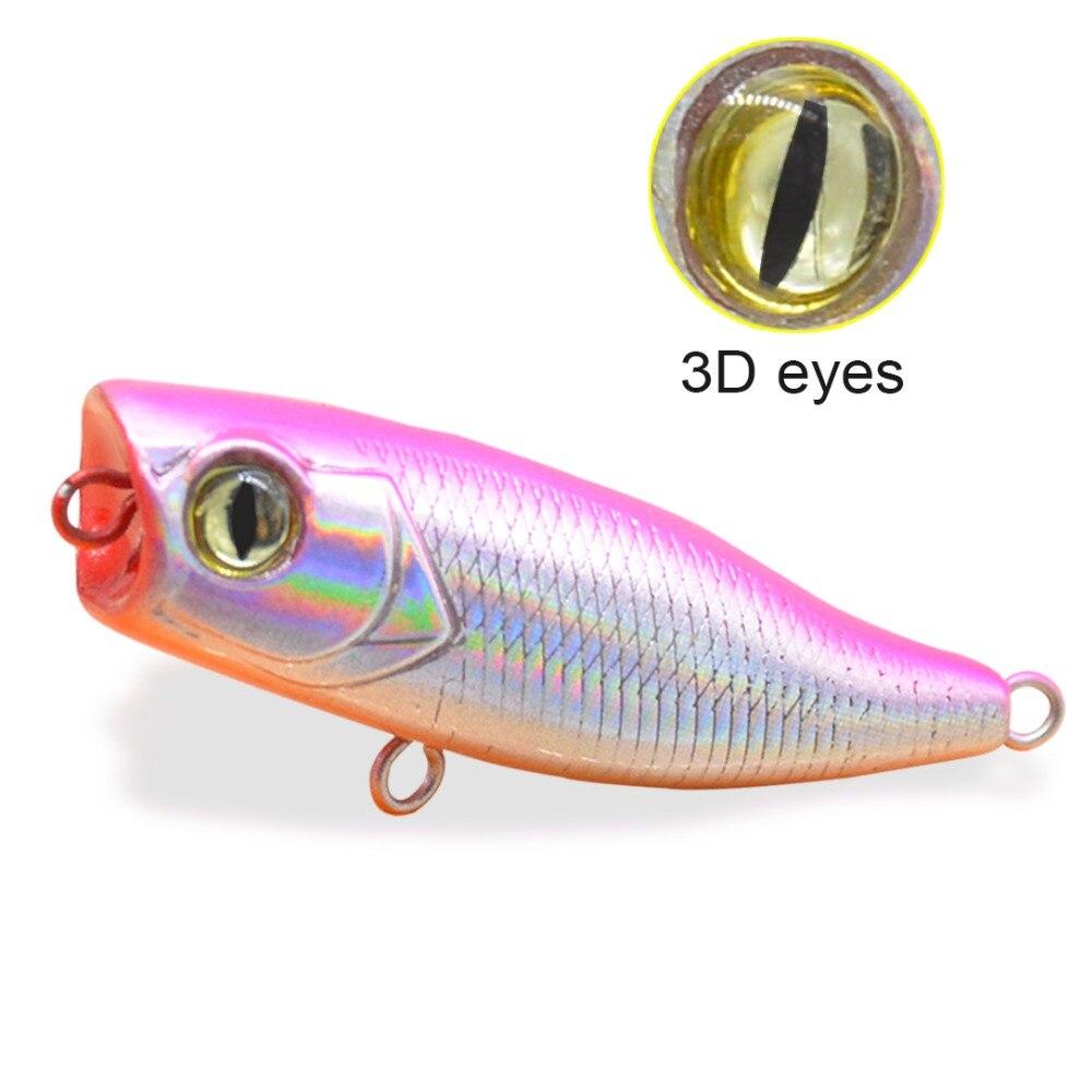 popper flutuante wobblers crankbait duro 3d olhos