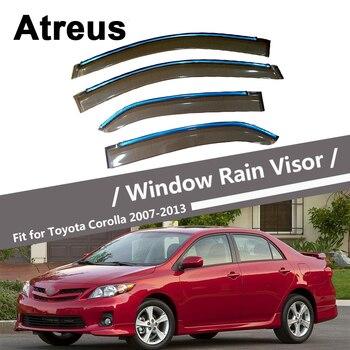 Atreus For Toyota Corolla E140 E150 2007 2008 2009 2010 2011 2012 2013 Car Door Smoke Window Sun Rain Visor Wind Deflector Guard