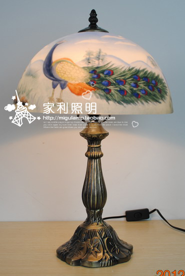 Hand Painting Oil Painting Lamps Living Room Lights Child Lamp Table Lamp  Ofhead Peacock