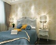 beibehang papel de parede Retro European bronzing stereoscopic engraving non - woven wallpaper background wall 3d