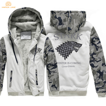 Winter Is Coming Game of Thrones House Stark Fashion Zipper Hoodies Men 2019 Winter Warm Hip Hop Sweatshirts Men Thicken Jackets цена