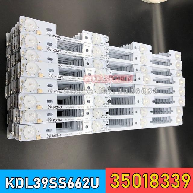 新 100 個 led バックライトバー康佳 KDL39SS662U 35018339 35018340 327 ミリメートル 4 led (1 led 6 v)