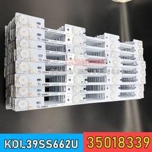 Nowy 100 sztuk pasek podświetlenia LED dla KONKA KDL39SS662U 35018339 35018340 327mm 4 diody LED (1 LED 6V)