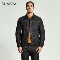 SUNSPA Personality Brand Clothing Men Denim Jacket 2017 Printing Color Tannins Men S Jacket Fashion Slim