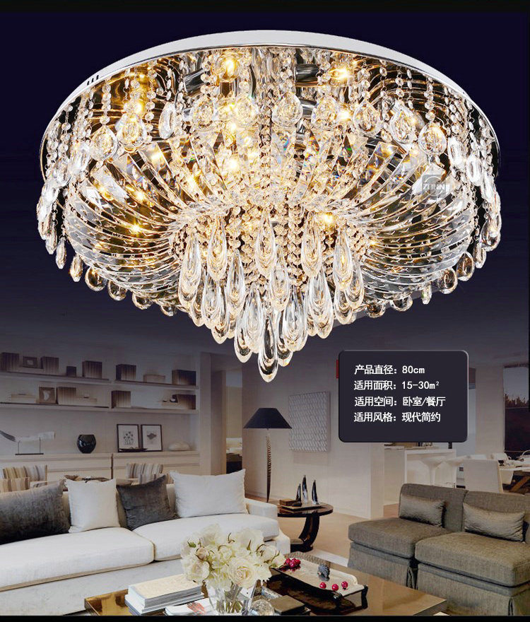 K9 Crystal Ceiling Lights Lustres De Teto Lustres De Cristal Decoration 24/48/96w Home Lighting for Bedroom Living Room hot selling perforated lustres de teto european luxury double helix stair pendant lights 100% crystal guarantee