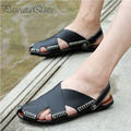 Real Leather Men Sandals Comfortable Summer Stylish Casual Breathable Beach Men Shoes Pasoataques Brand