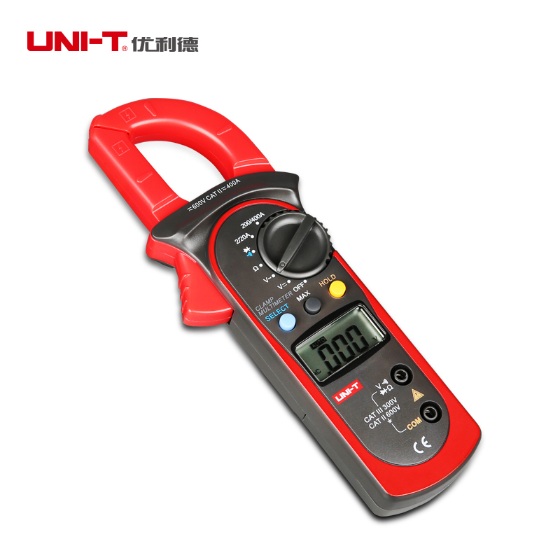 UNI-T UT201 400A 600V Digital Multimeter Auto Range AC/DC Voltage Current Ohm Tester Clamp Meter Free Shipping