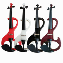 4/4 Electric Acoustic Violin Basswood Fiddle with Violin Case Cover Bow for Musical Stringed Instrument Lovers Beginners handmade new top model art 5 strings red 4 4 electric violin streamline case rosin bow included string instrument