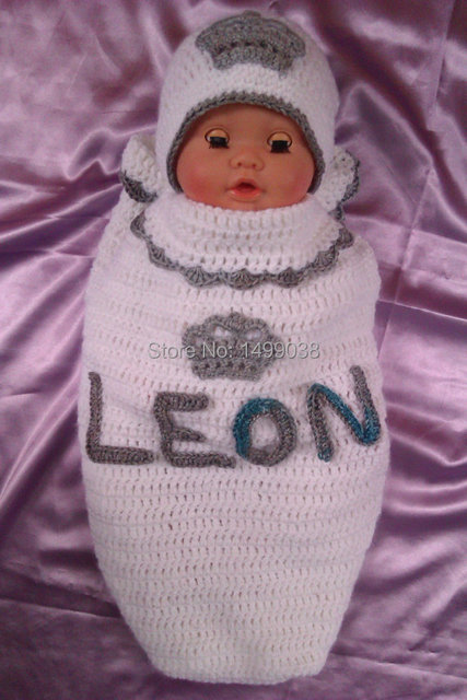 Baby cocoon with the name from your baby in every size you can order it