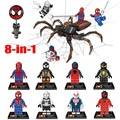 Hot 8pcs/lot DLP9026 Super Heroes Avengers Ultron Spiderman  Spider Man Building Blocks Children Gift Toys