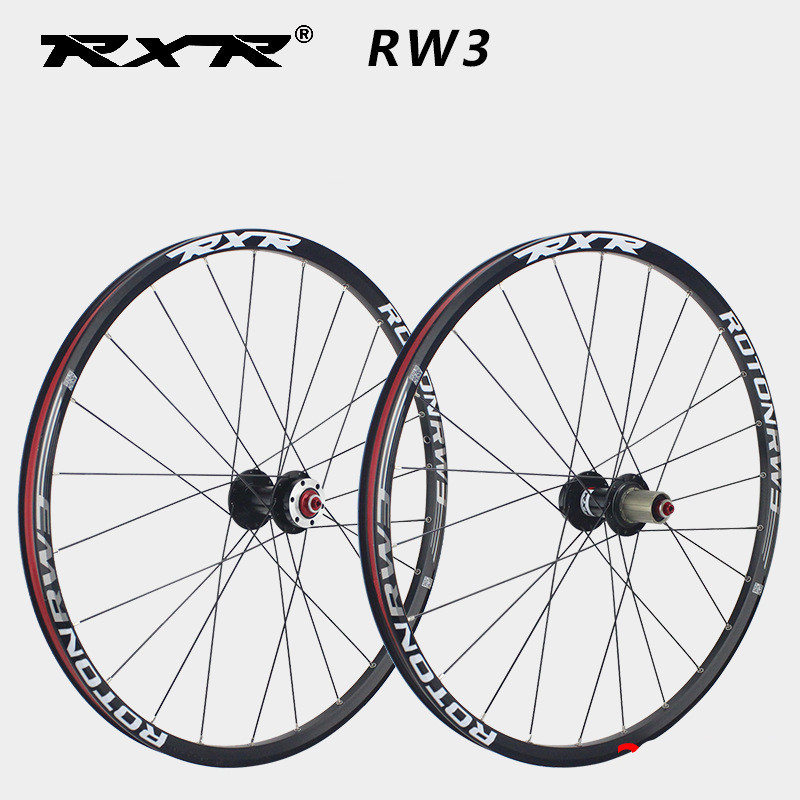 RXR MTB Wheelset Disc Brake 27.5 inch 5 Palin carbon fiber wheel Alloy rim 24 Hole suitable for bicycle wheels big hubs parts 2018 anima 27 5 carbon mountain bike with slx aluminium wheels 33 speed hydraulic disc brake 650b mtb bicycle