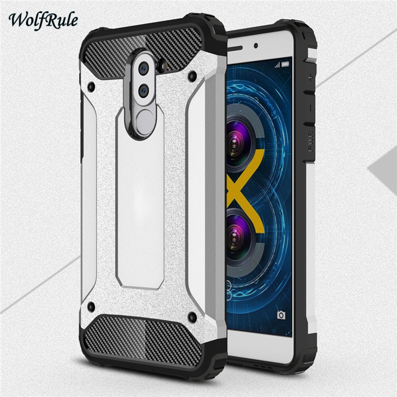 WolfRule sFor Cover Huawei Honor 6X Case Shockproof Armor Back Cover TPU & PC Phone Case For Huawei Honor 6X Cover Honor6X 5.5
