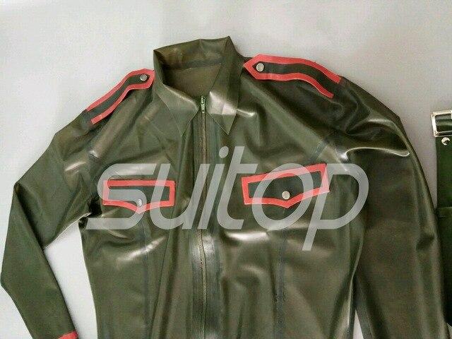 Latex cosplay armée femmes uniformes en caoutchouc militaire corps costume skinny Police sexy costumes personnalisés