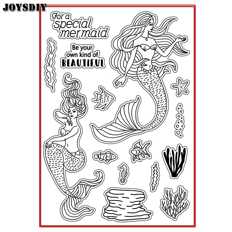 FOR A SPECIAL MERMAID BE YOUR OWN Scrapbook DIY photo cards account rubber stamp clear stamp transparent  Handmade card stamp spider texture background scrapbook diy photo cards account rubber stamp clear stamp transparent stamp handmade card stamp