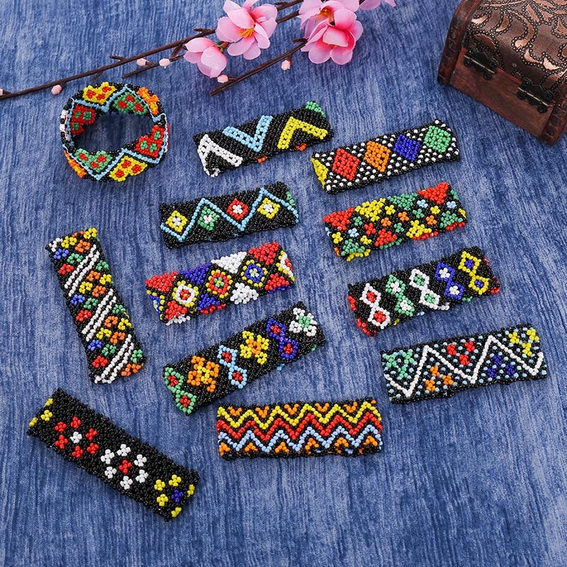 NEW Fashion Beaded Bracelets Adjustable Bracelet Bohemian Style Handmade Strand  for Women Gift Bangle Multicolor