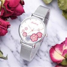 Women Watches Luxury Fancy Flower Ladies Japan Quartz Movement Stainless Steel Waterproof Wristwatches relogio feminino