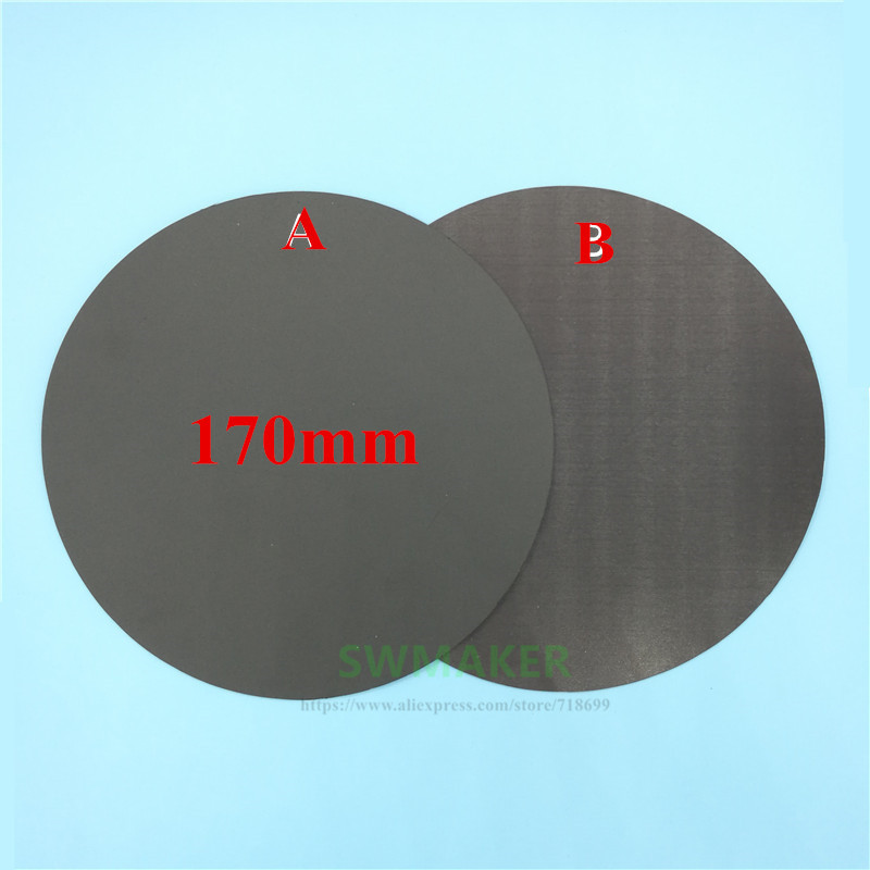 Office Electronics 170mm Round Magnetic Adhesive Print Bed Tape Print Sticker Build Plate Tape Flexplate For Diy Kossel/delta 3d Printer Parts Warm And Windproof