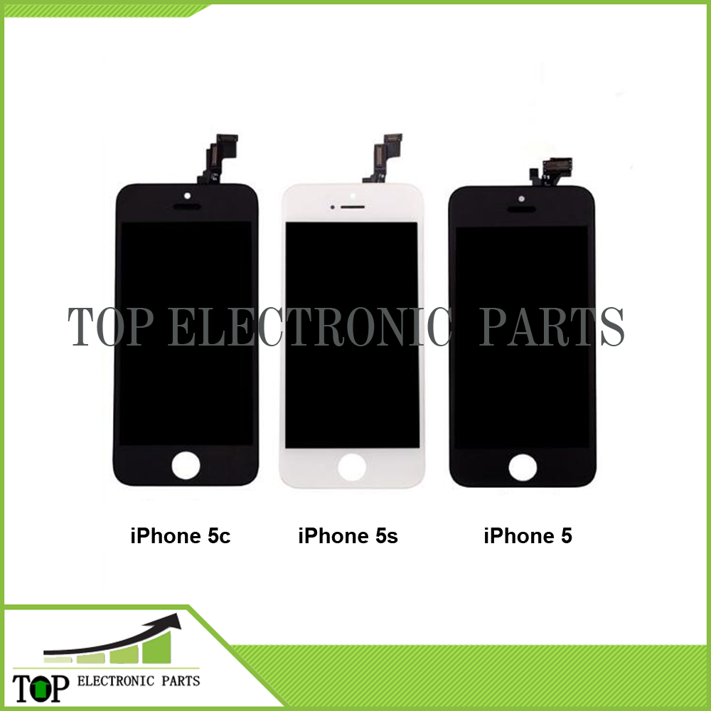 10PCS/LOT Tianma Quality AAA For iPhone 5 5c 5s LCD Display Touch Digitizer Full Assembly Black White Color LCD Screen Free DHL