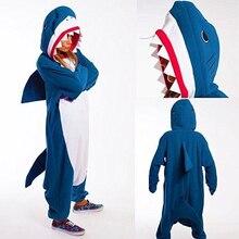 Shark Unisex Adult Pajamas Animal Cosplay Sleepwear Onesies