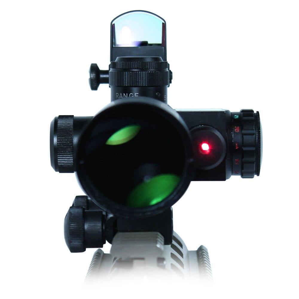 Air Gun Tactical Rifle Scope 2.5-10X40 W/ Red Laser & Mini Reflex 3 MOA Red Dot Gun Weapon Sight For Postol Air