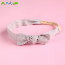 Headbands Hair-Accessories Newborn Baby-Girl Bowknot Chiffon Cute 1pcs Solid-Color